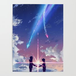 Anime Art - Beyond Time and Space Poster