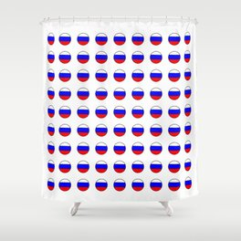 Flag of russia 4 -rus,ussr,Russian,Росси́я,Moscow,Saint Petersburg,Dostoyevsky,chess Shower Curtain