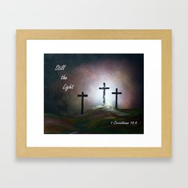 Still the Light Scripture Painting Framed Art Print