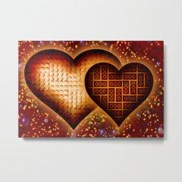 Lego Love - 162 Metal Print