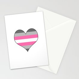 Demigirl Heart Stationery Cards