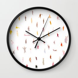 Tiny People In Pink Wall Clock
