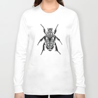 beetle Long Sleeve T-shirts featuring Beetle by Rhiannon Foster