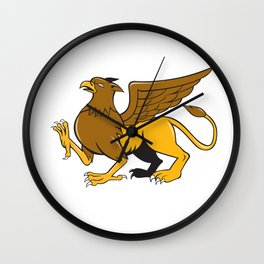 Griiffin Marching Side View Cartoon Wall Clock