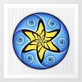Mandala Spiral Star Art Print