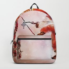 Circus Monkey On Tightrope Backpack