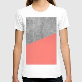 Living Coral on Concrete Geometrical T-shirt