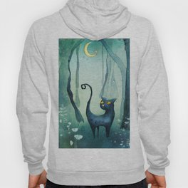 Cat in the forest Hoody