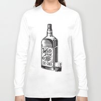 hemingway Long Sleeve T-shirts featuring Write Drunk. Edit Sober by Ryan Huddle House of H