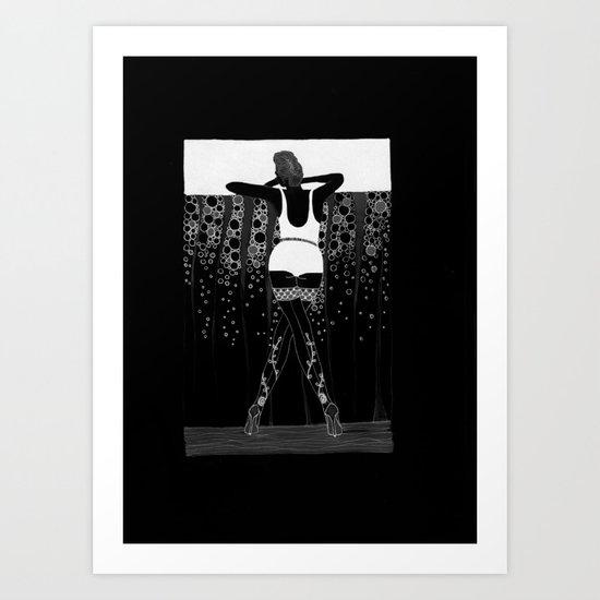 Comment Ca Va? - black&white Art Print