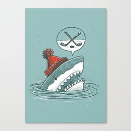 Hockey Shark Canvas Print