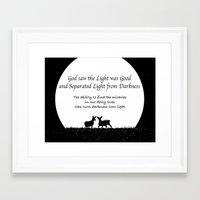 scripture Framed Art Prints featuring Scripture Quote by Candus Kay