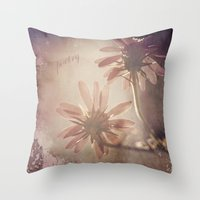 poetry Throw Pillows featuring Poetry by Laura George