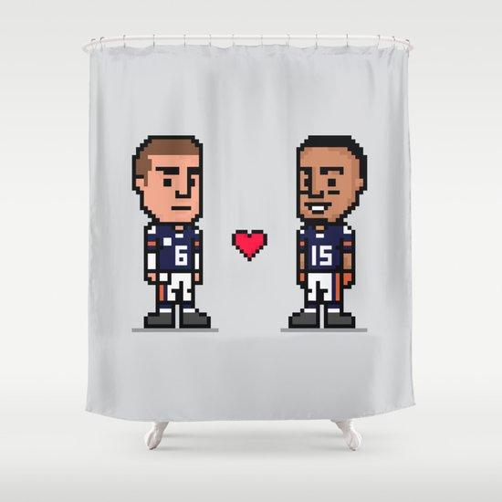 8-Bit: Bromance Shower Curtain