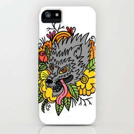 wild wolf iPhone Case