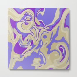 Acrylic Flow #3107 - Blu Berry Mofin Metal Print