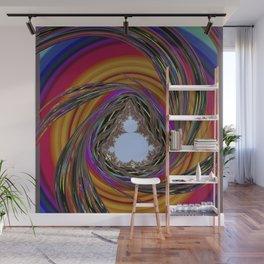 orange, purple, PSYCHEDELIC SPIRAL, MANDELBROT fractal Wall Mural