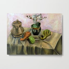 Still Life with Gourd Metal Print