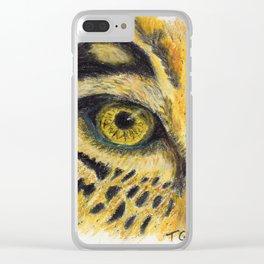 Leopard eye Clear iPhone Case