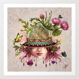 Hat Terrarium Art Print