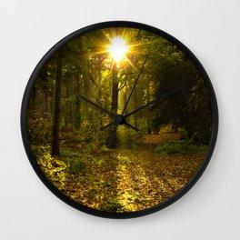 Autumn Sunburst Wall Clock