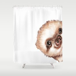 Sneaky Baby Sloth Shower Curtain