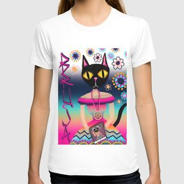 Bruja Cat Lady, Bright Colorful Artwork T-shirt