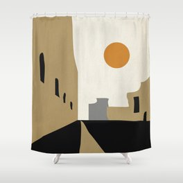 street-Abstract Shower Curtain