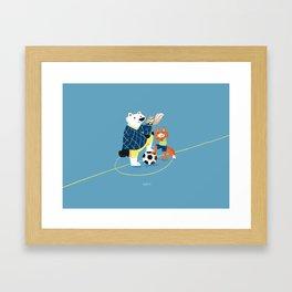 Best soccer friends Framed Art Print