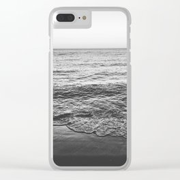 Waters edge (b&w) Clear iPhone Case