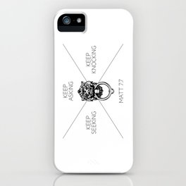 Keep Asking, Keep Seeking, Keep Knocking iPhone Case
