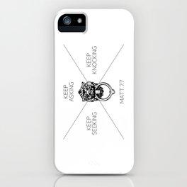 Keep Asking, Keep Seeking, Keep Knocking iPhone Case
