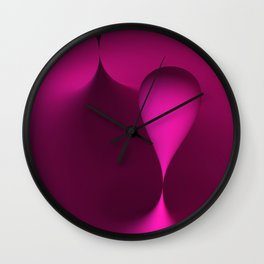 the color pink Wall Clock