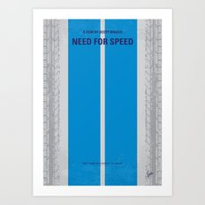 No407 My NEED FOR SPEED minimal movie poster Art Print
