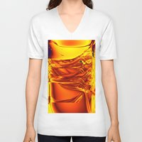 waterfall V-neck T-shirts featuring waterfall by donphil