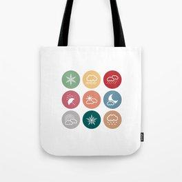 Weather symbol Tote Bag