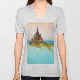 Goldfish Castle Island Unisex V-Neck