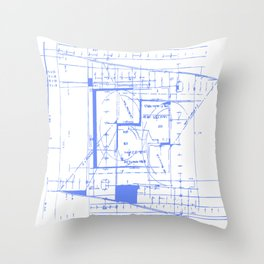 Blue print Throw Pillow