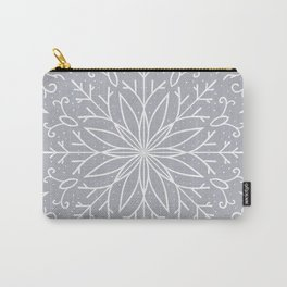 Single Snowflake - Silver Carry-All Pouch