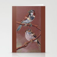 sparrow Stationery Cards featuring Sparrow by Ju.jo.weh