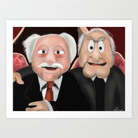 blair waldorf Art Prints featuring Statler & Waldorf by Dano77