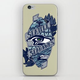 Go Hawks iPhone Skin