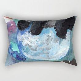 panda in the moon Rectangular Pillow