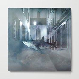 Night Shark Metal Print