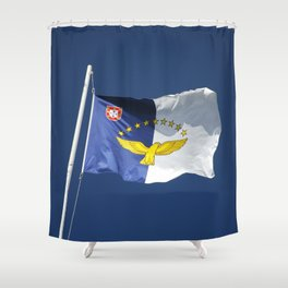 Flag of Azores islands Shower Curtain