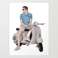 Vespa Lover Art Print