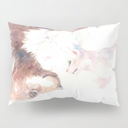 The bear, the cat and the tree of truth Pillow Sham