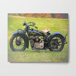 Vintage US motorcycle - Circa 1930 Metal Print