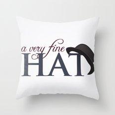 A very fine hat Throw Pillow