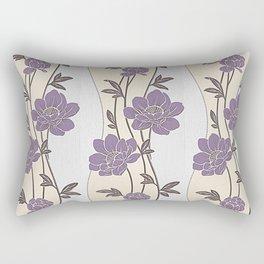 Purple Flower Garland Rectangular Pillow